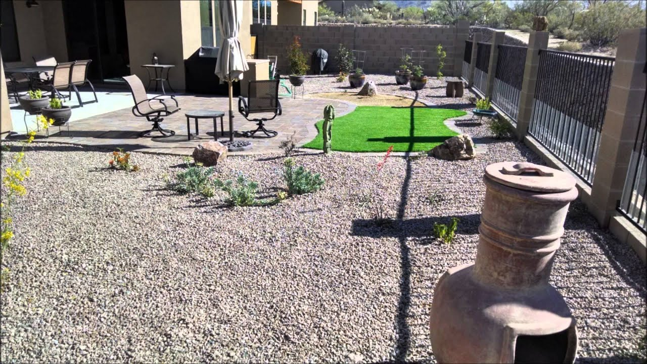 Landscaping   Pavers, Artificial Turf, Grill, Plants