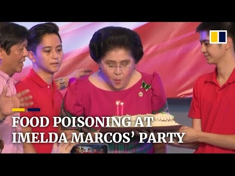 Ex-Philippine first lady Imelda Marcos' 90th birthday party ruined as guests suffer food poisoning
