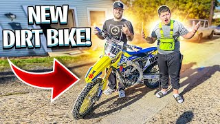 MY LITTLE BROTHER BOUGHT A NEW DIRT BIKE ! ( RMZ450 ) | BRAAP VLOGS