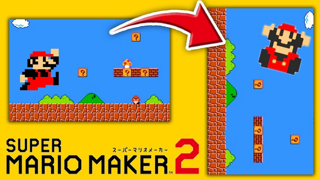 もしも『ステージ1ー1』が90度傾いたら こうなる。【マリオメーカー2:SUPER MARIO MAKER 2】 #1