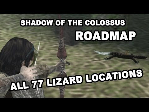 SotC: Endangered Lizards Roadmap - All 77 Lizard Locations, easy to follow