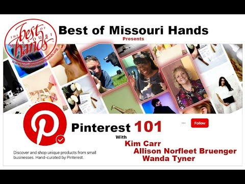 Pinterest 101 for Best of Missouri Hands Artists