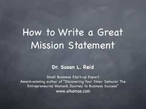 How to Write a Great Mission Statement-shortmp4 - YouTube