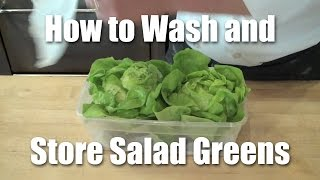 How To Wash And Store Salad Greens