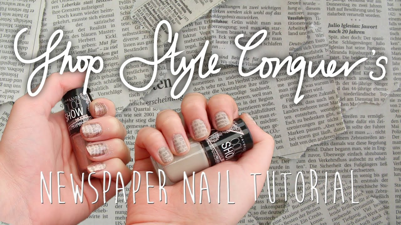 DIY Nail Art: Quick and Easy Newspaper Nails - YouTube