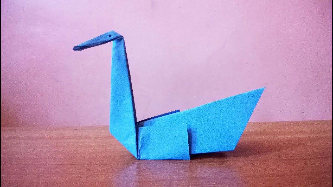 how to make a simple paper swan youtube