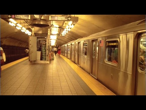 MTA New York City Subway Line 7 Express Train Departing Grand Central