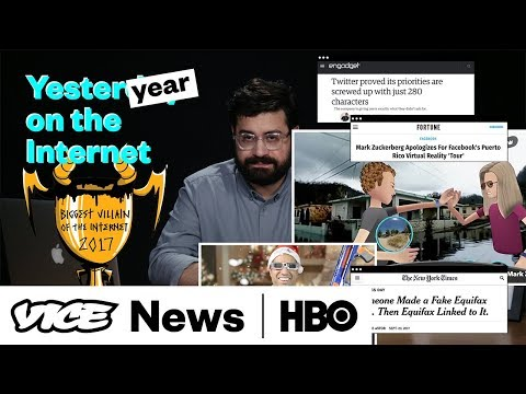Who Was The Internet's Biggest Villain In 2017? | Yesterday On The Internet (HBO)