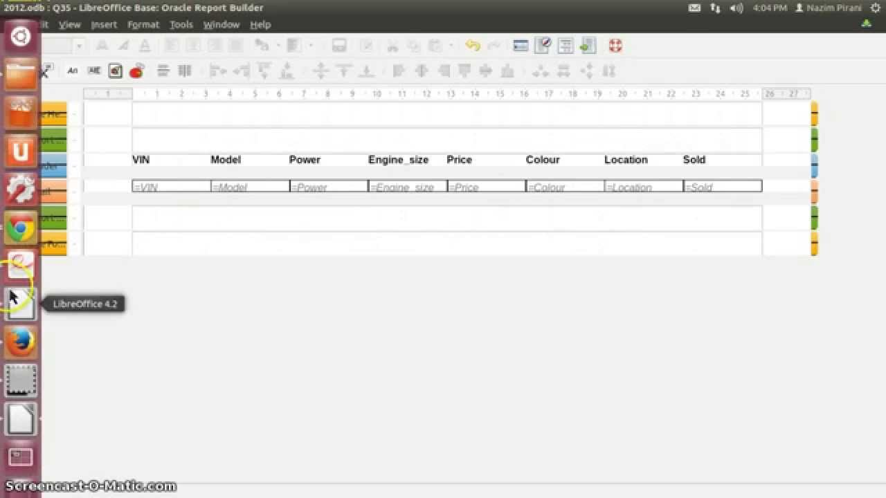 Libreoffice Base Report Part 1 - YouTube