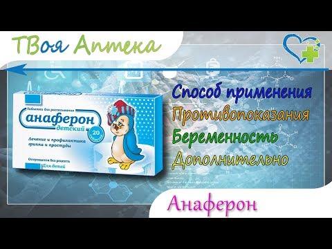 Анаферон детский таблетки - показания (видео инструкция) описание, отзывы