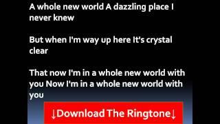 Peabo Bryson and Regina Belle - A Whole New World Lyrics