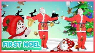 DANCING WITH SANTA CLAUS - FIRST NOEL AND JINGLE BELLS - CHRISTMAS SONGS FOR KIDS