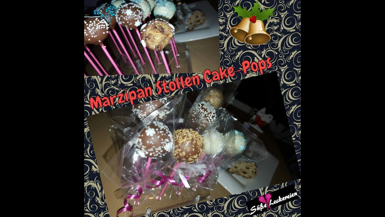 marzipan stollen cake pops weihnachts cake pops schnell. Black Bedroom Furniture Sets. Home Design Ideas