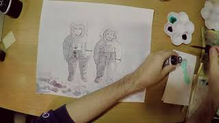 宇宙兄弟30巻 表紙作画風景 _Space Brothers Eddie/Brian (J) 原作:小山宙哉 thumbnail