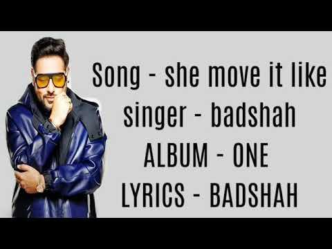 She Move It Like Lyrics 😁😁😁😀