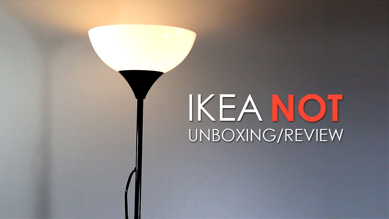 IKEA floor Lamp  Unboxing  Online Tech Review  YouTube