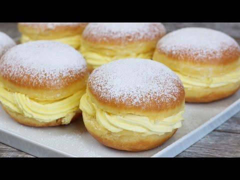 Alman Pastasi Tarifi - Vanilya Puddingli Berliner / Kreppel / Krapfen