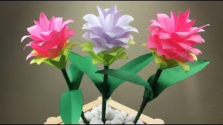 Paper Flowers | Paper Crafts For School | Paper Flowers Easy | Flower Craft