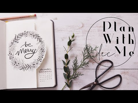 Plan With Me   December 2019 Bullet Journal Juniper