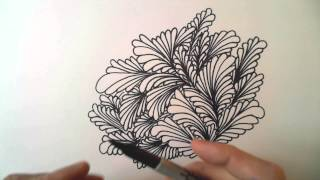 Freehand Space-filling Patterns 4: A Dense Leaf Design