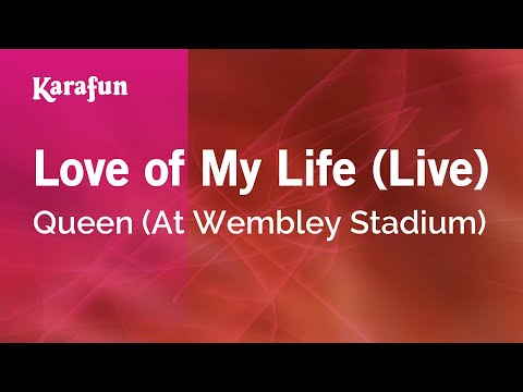 Karaoke Love Of My Life (Live) - Queen (At Wembley Stadium) *