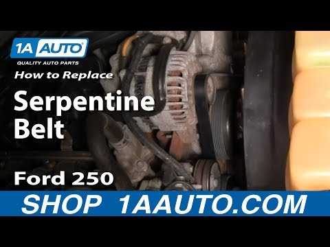 How to Replace Serpentine Belt 03-11 Ford F250 Super Duty Truck