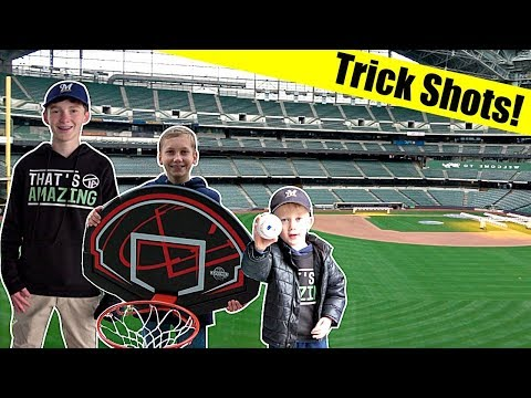 Stadium Trick Shots - Miller Park  | That's Amazing
