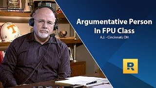 Argumentative Person In our FPU Class