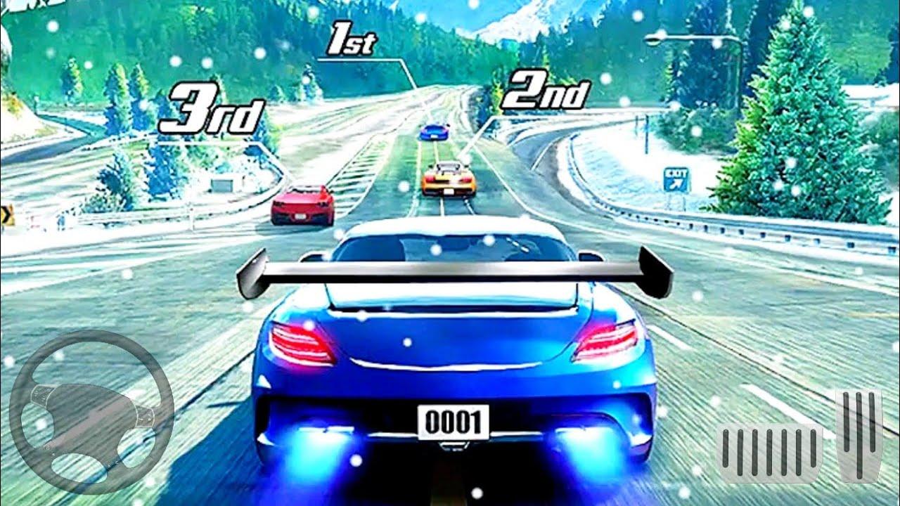 Download course de rue en 3D - jeux de voiture gratuit - Android GamePlay