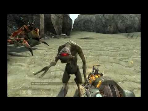 "Half-Life 2 ""Hard"" maxed graphics 4K / 2160p Walkthrough PART 18 - On Foot / Antlion Queen"