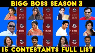 Bigg boss 3 contestant list videos / Page 2 / InfiniTube