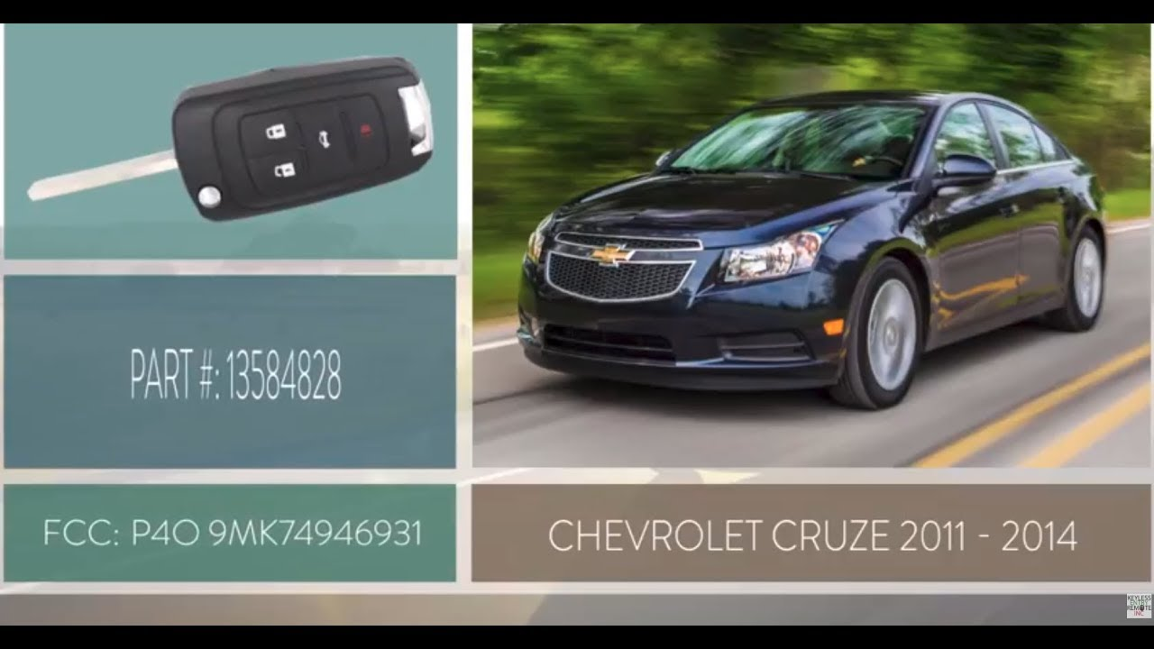 How To Replace A Chevrolet Cruze Key Fob Battery 2011 - 2014