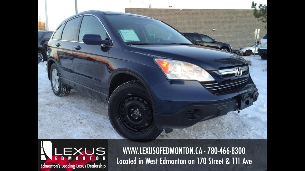 Used Royal Blue 2008 Honda CR-V 4WD EX-L w/Navi Review | St. Albert Alberta