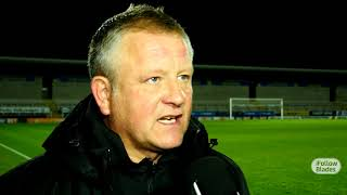 Chris Wilder's Burton reaction