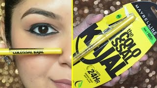 *NEW MAYBELLINE The COLOSSAL KAJAL 24 Hrs | Review & Demo