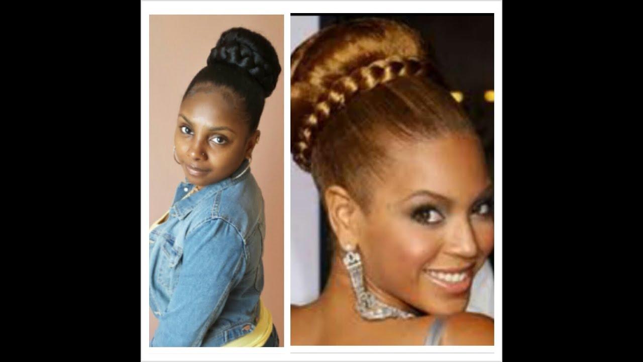 Quick Easy Braided Bun   Beyonce Inspired Bun