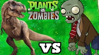 T-REX VS ZOMBIES MOOD PLANTS VS ZOMBIES