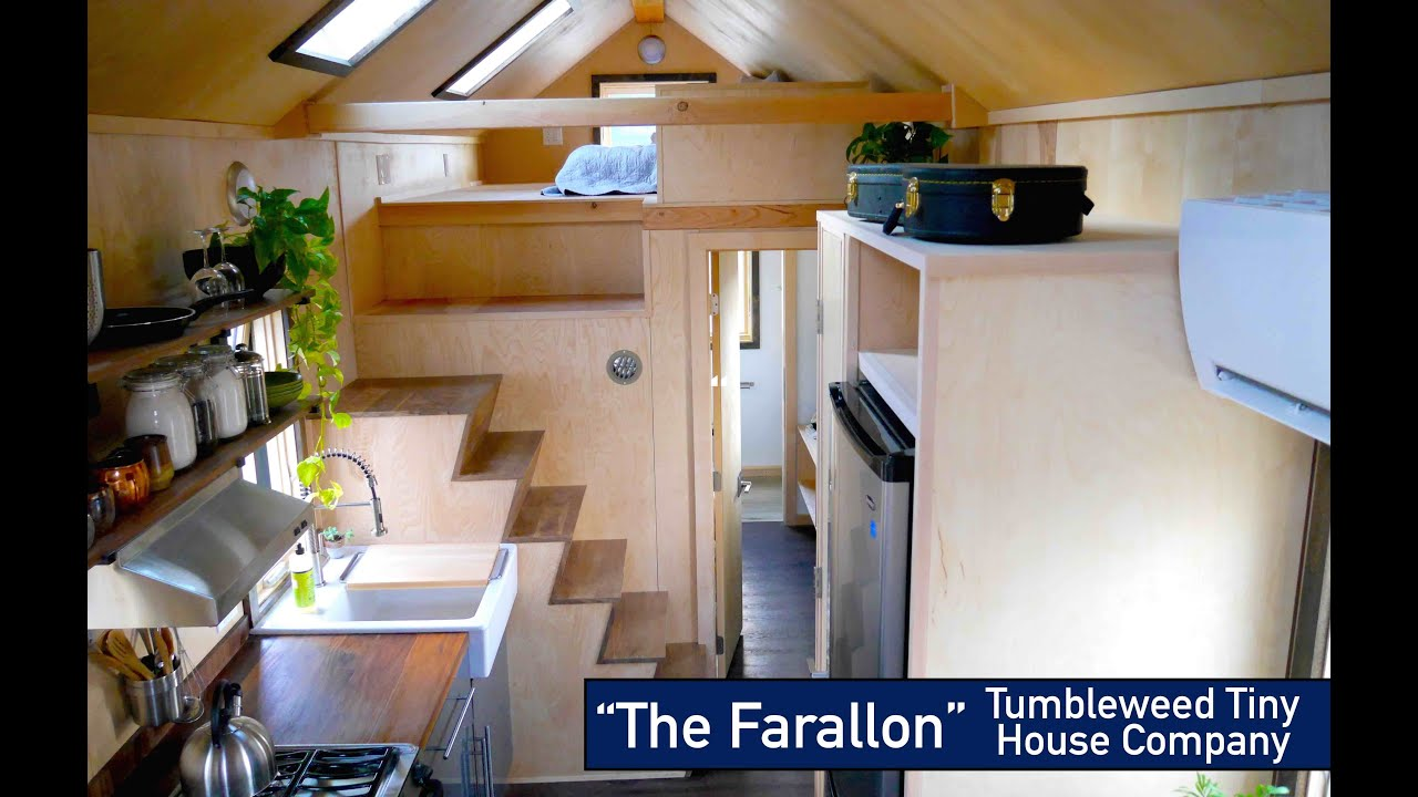 non loft sleeping the new tumbleweed farallon tiny house youtube - Tumbleweed Tiny House Interior
