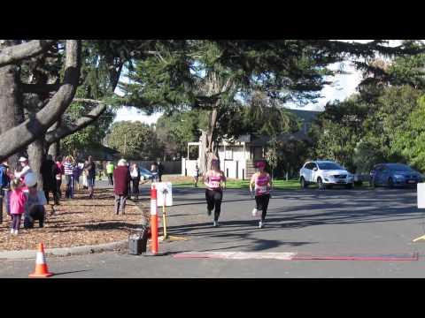Traralgon finish line - Caitlyn + Fiona - Half Marathon