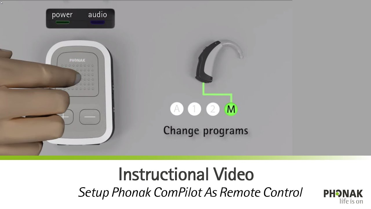 Setup Phonak ComPilot As Remote Control