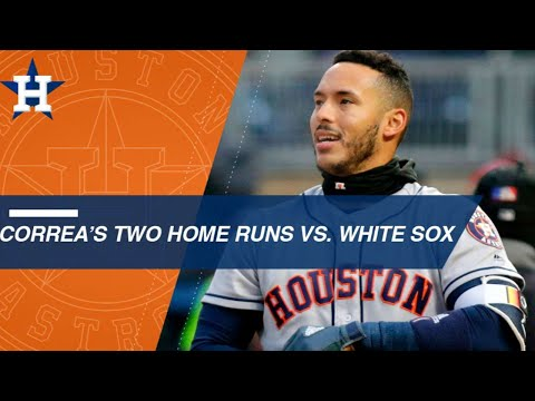 Carlos Correa hits two home runs vs. the White Sox