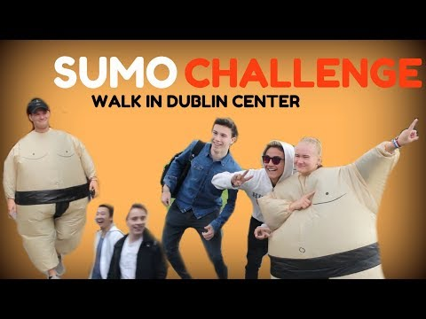 SUMO CHALLENGE IN CENTER DUBLIN