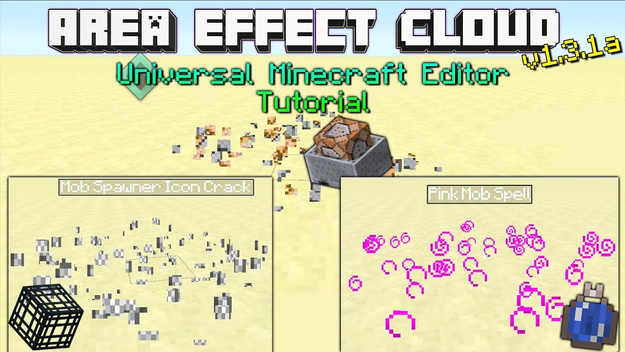 How To Use The Area Effect Cloud Quick Mod On Universal Minecraft  Editon(v1 3 1a)