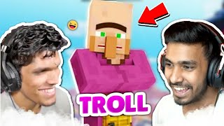 Indian gamers Reaction To Troll Stupid Villagers |Techno Gamerz | Battle Factor