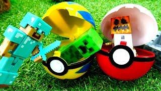 Игры для мальчиков. Мобы Майнкрафт Лего и покеболы.