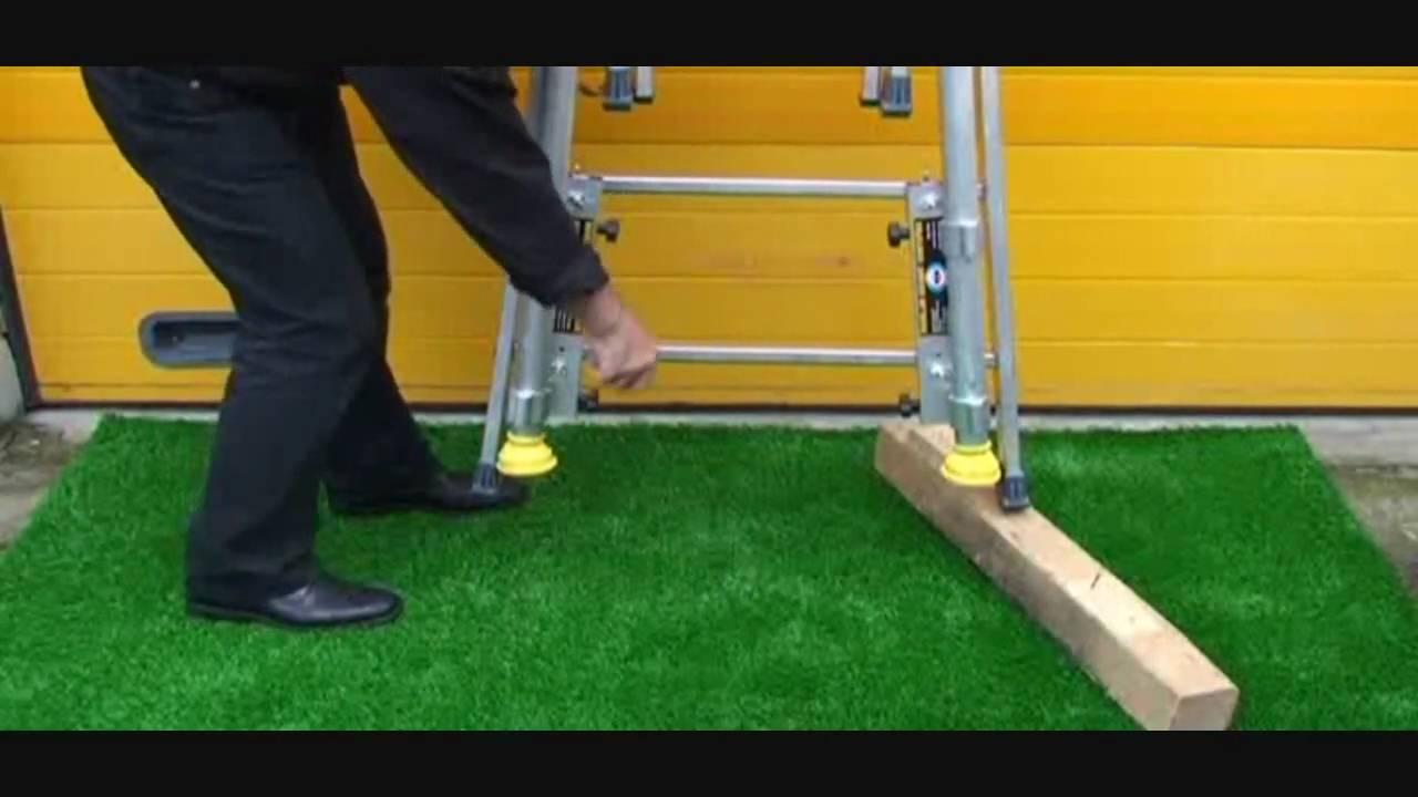 kit f nix de rattrapage pour echelle et chafaudage pour trottoir et jardin youtube. Black Bedroom Furniture Sets. Home Design Ideas