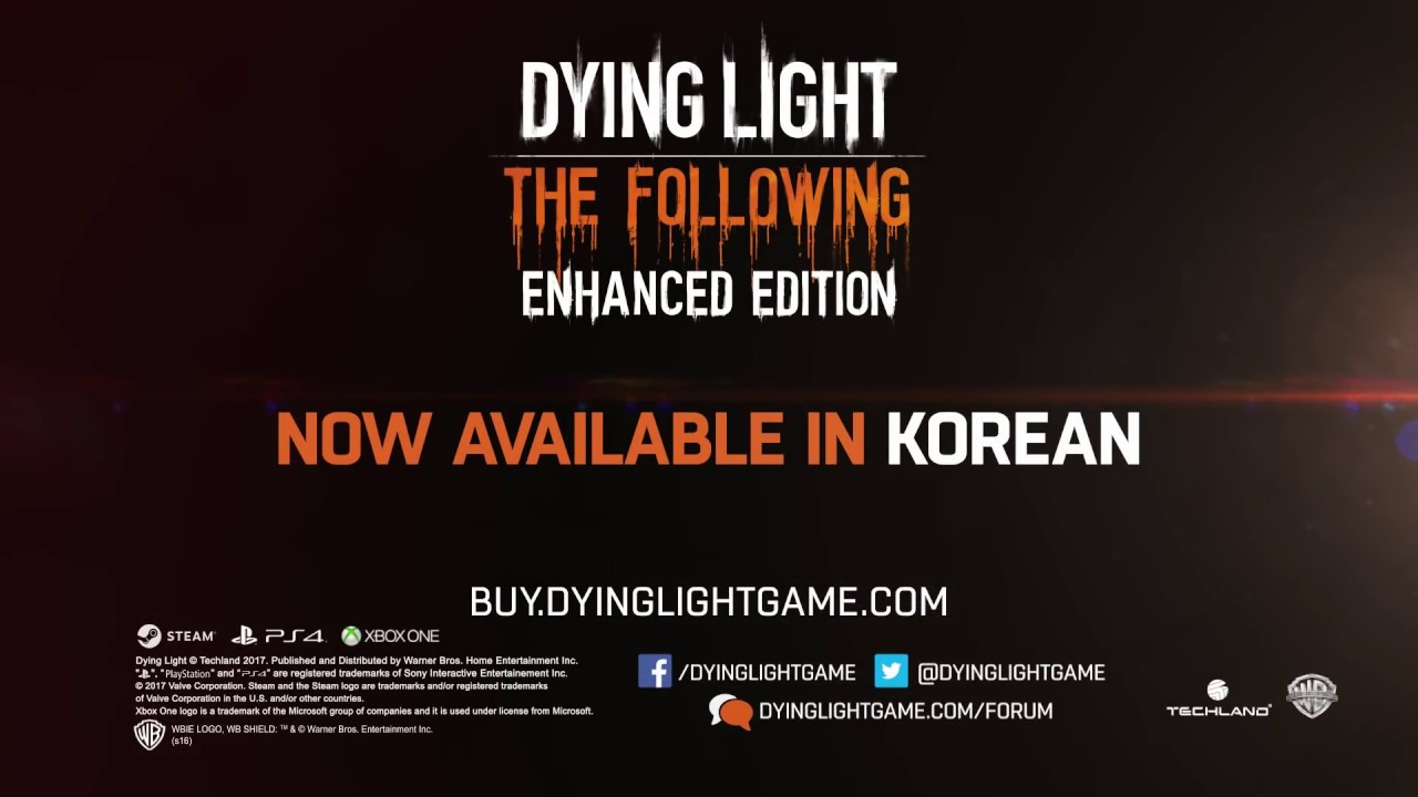 Korean Language Support Added to Dying Light