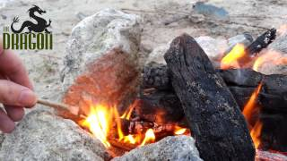How to Light a Joint on a Camp Fire - short quick video