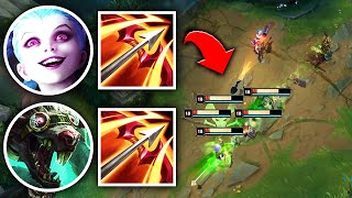 WE RAN DOUBLE HURRICANES AND AOE SPRAYED EVERYONE - League of Legends