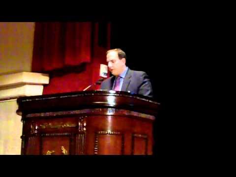 SEF 2010 Gala -- Warren Mula introducing Stephen P. McGill